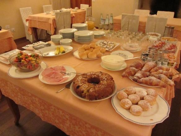 Breakfast at Locanda Perinella Brogliano, North Italy