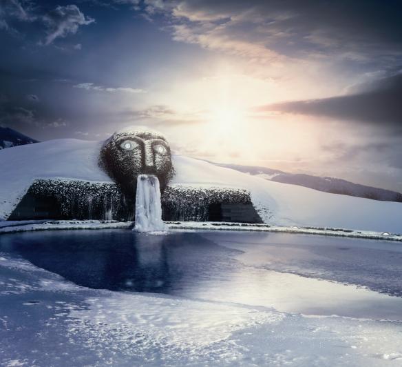 Swarovski Kristallwelten - The Giant at winter