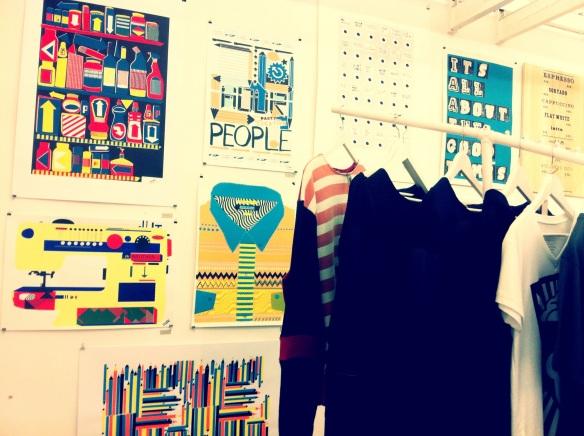 Contemporary art Printa design shop and silkscrreen studio Budapest