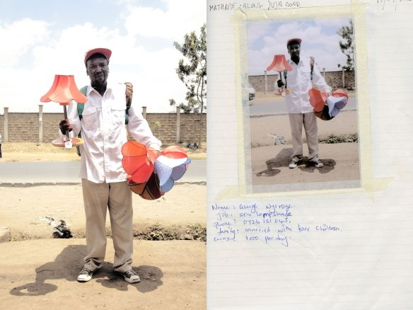 Street trader in Nairobi