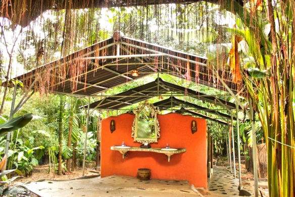 Bathroom in the rainforest- Elephant Hills, Thailand