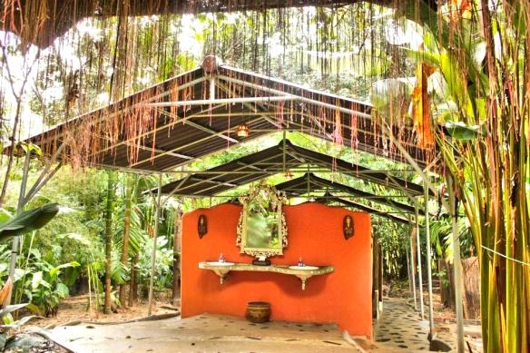 Bathroom in the rainforest- Elephant Hills, Thailand