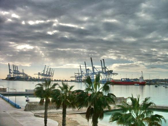 Birzebbuga port storm
