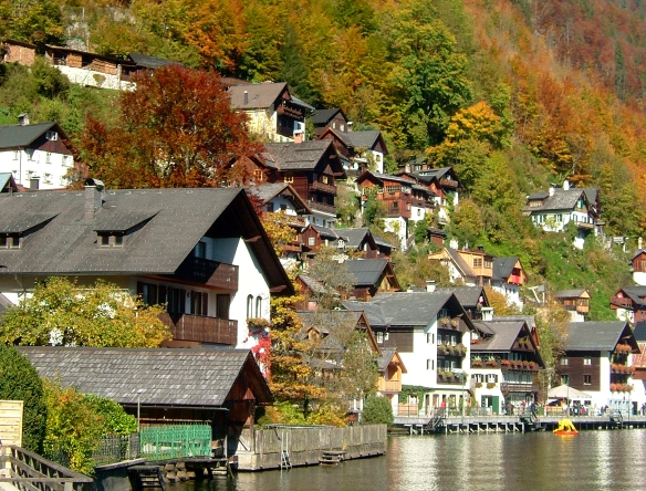 Hallstatt traditional homes