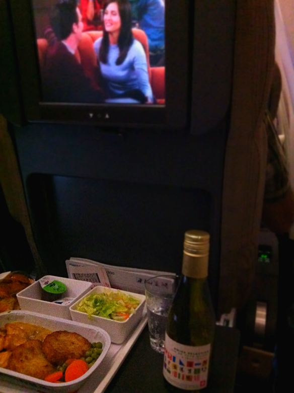 Movie and meal on board