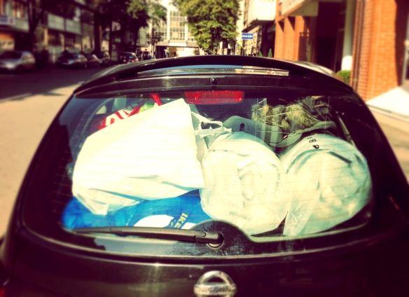 overpacked car
