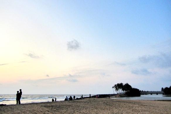Kappil beach sunset