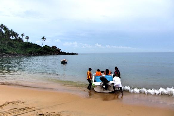 Speedboat trip Kovalam Kerala India