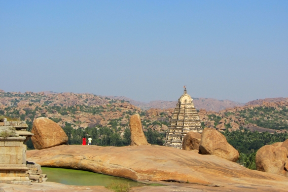 Far view Hampi India