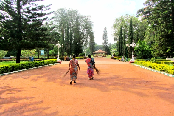 Lalbagh botanical garden workers Bangalore India
