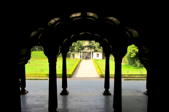 Tipu Sultan summer palace arches Bangalore India