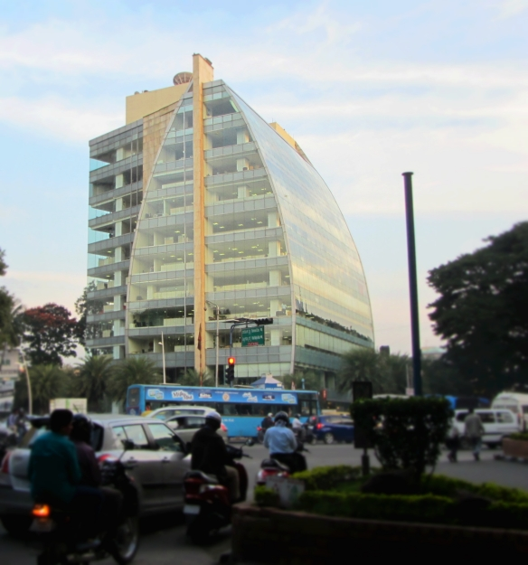 Sail shape building UB City Bangalore India