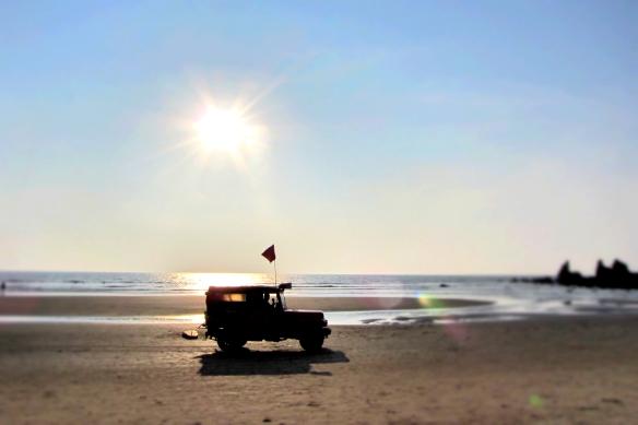 Arambol beach lifeguard Goa India