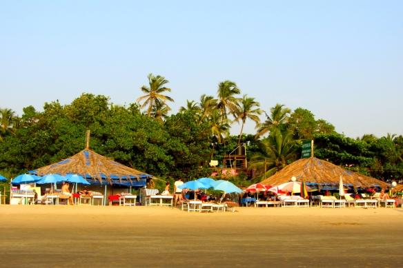 Arambol beach shacks Goa India