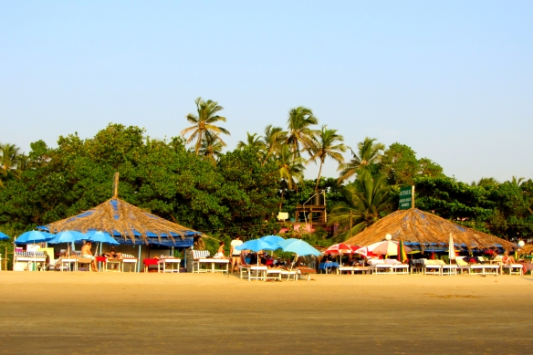 Arambol beach shacks Goa India