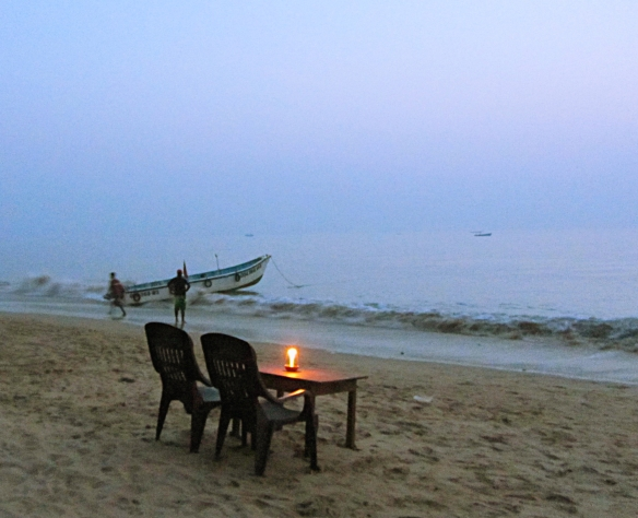 Bobbys shack Candolim beach Goa India