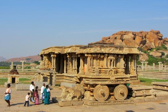 Hampi stone chariot India