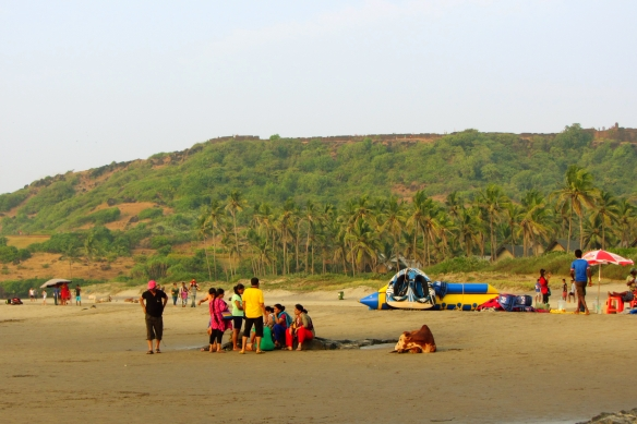Vagator beach crowd Goa India