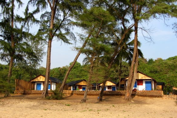Peace garden beach huts south goa canacona talpona beach India