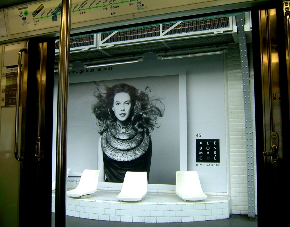 Paris metro fashion advertisement