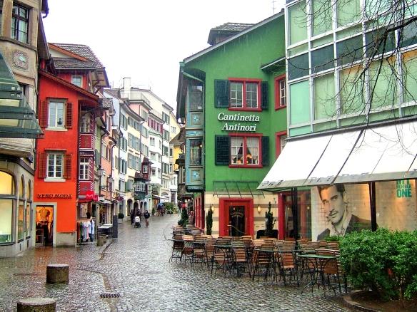 Zurich downtown streets
